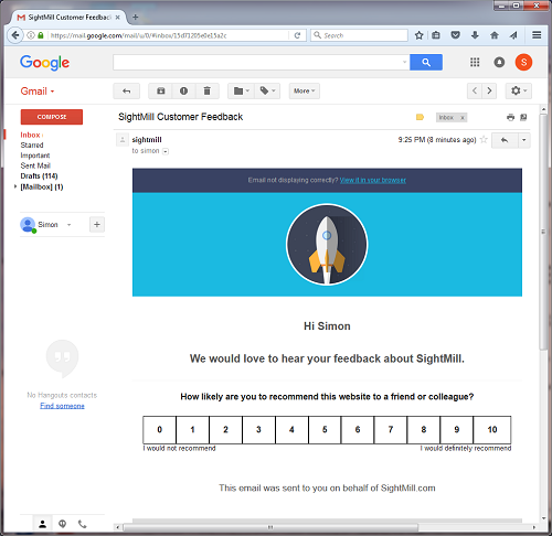 Email Survey Template | About Nps Email Net Promoter Score Survey Software By Sightmill