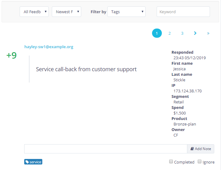 view_detail_customer_data_with_every_survey_response